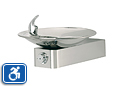 Haws 1001HPS | Wall Mounted ADA Drinking Fountain with High Polished Stainless Bowl on Square Arm
