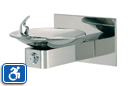 Haws 1001HPS | Wall Mounted ADA Drinking Fountain with High Polished Stainless Bowl on Square Arm and Back Panel