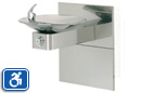 Haws 1001HPSMS | Wall Mounted ADA Drinking Fountain with High Polished Stainless Bowl on Square Arm and ADA Access Panel