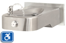Haws 1107L | Wall Mounted ADA Stainless Steel Drinking Fountain with Back Panel