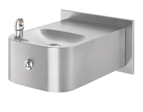 Model 1109FR | Wall Mounted Drinking Fountain with Back Panel