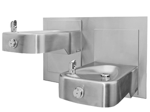 Haws Wall Mounted Hi-Lo Adjustable Drinking Fountain | Stainless ...