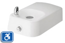 Haws 1311 | Wall Mounted White Enameled Iron Drinking Fountain