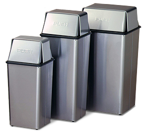 Stainless Steel Push Top Waste REceptacles