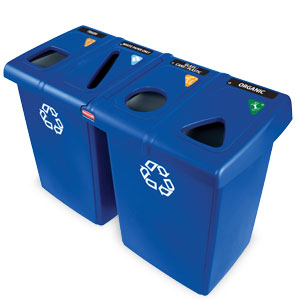 Model 1792372 | Four Stream Recycling Stations (Blue)