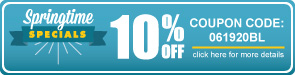 Springtime Specials - 10% Off All Bleachers