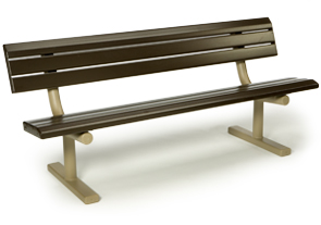 Model 3040-06 | 6' Portable Bench (Brown/Cedar)