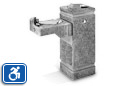 Haws 3150 | Dual Height Concrete Drinking Fountain on Square Pedestal