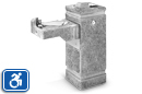 Haws 3150FR | Dual Height Freeze Resitant Concrete ADA Drinking Fountain