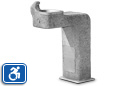 Haws 3177 | Universal Access Concrete Drinking Fountain on Square Pedestal