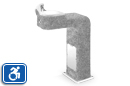 Haws 3177FR | Barrier Free Vibra-Cast Reinforced Concrete Drinking Fountain