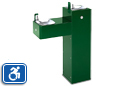 Haws 3300 | Dual Height Outdoor ADA Drinking Fountain on Square Pedestal with Custom Color Options