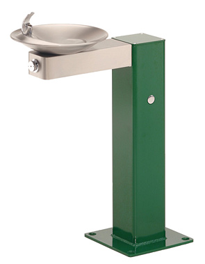 Model 3377 | Pedestal Drinking Fountain with Stainless Steel Bowl and Arm