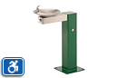 Haws 3377 | Steel Outdoor ADA Drinking Fountain on Square Pedestal with Custom Color Options