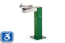 Haws 3377FR | Freeze Resistant Water Fountain on Square Pedestal | Universal Access