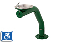 Haws 3380FR | Freeze Resistant Drinking Fountain on Round Painted Steel Pedestal | Universal Access