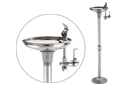 Haws 3482 | Steel Outdoor Drinking Fountain on Galvanized Pipe Pedestal