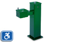 Haws 3500FR | Outdoor Dual Height Square Pedestal ADA Drinking Fountain | Freeze Resistant