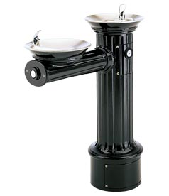 Model 3511FR | Drinking Fountain | Round Pedestal | Antique Style | Freeze Resistant (Ebony)