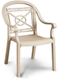 Model US214037 | Victoria Resin Chairs with Metal Style Finish (Sandstone)