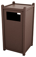 Model 5-STS26 | 26 Gallon Side Opening Recycled Plastic Trash Receptacle