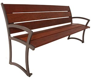 Fabulous Madison Collection Park Bench Ipe Wood Steel Belson Gmtry Best Dining Table And Chair Ideas Images Gmtryco
