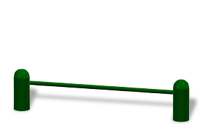 Model 78000029 | Push-Up Bar | Commercial Fitness Equipment (Forest Green)