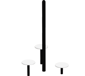 3-Pad Stretch Pole | Outdoor Fitness Equipment