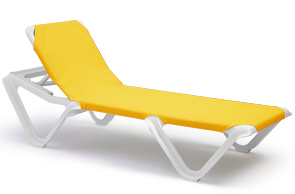 ASTM Logo Sanitized Logo Model 99101099 | Nautical Sling Chaise Lounges  (Yellow/White)