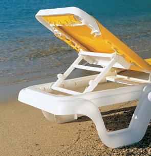 Model 99404099 | Marina Sling Chaise Lounge Chairs (Yellow/White)