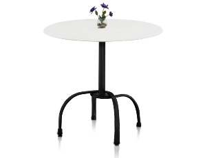 Model 99881004 & Model 99528109 | Bar Height Tulip Table Base (White/Silver)