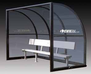 Model 9B1501 | Elite Staff Shelter II with 9' Aluminum Bench (Black)