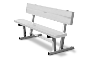 Model 9B21C1 | Multi-Purpose Aluminum Players Bench with Back (Red)