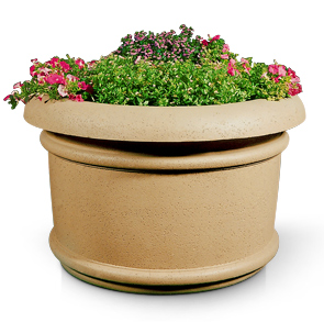 Model A-5 | Large Round Concrete Planter (LSB Sand Tan)