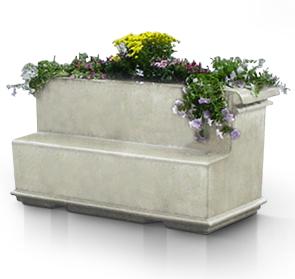 Outdoor Planter Bench Precast concrete planter bench concrete park benches belson model abp concrete planter bench lsb dove gray workwithnaturefo