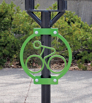 Model AMR-238-P | Advocate Meter 2 Bike Rack (Green)
