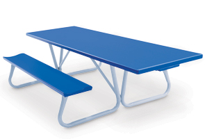Model AT8H-P | 8' Powder-Coated Top Picnic Table | Handicap Accessible