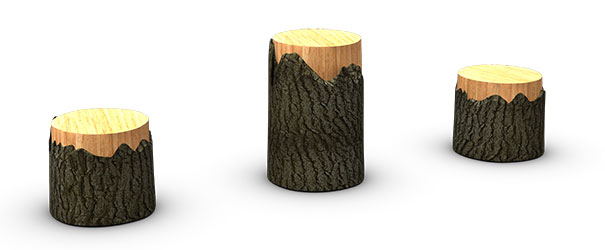 BarkPark® Nature Bark Tree Stumps