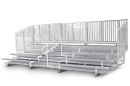 10 Row Compliant Aluminum Bleacher with Chainlink Guardrails