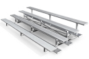 4 Row Standard Aluminum Bleacher with Single Footboards