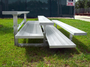 Model BNR-127 | 3 Row Quality Bleacher with Double Footboards