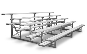 Model BNR-222 | Quality 5 Row Bleacher | Single Footboards