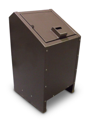 Model BPLR1 | Single Unit Receptacle | Animal Proof (Brown)