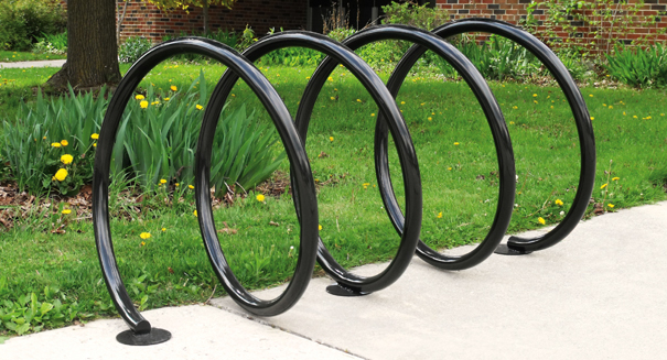 Bike Rack Coil Bicycle Rack Black