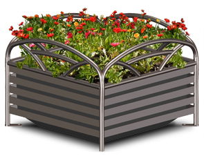 Model BRKP24 | Breckenridge Series Steel Planter (Spartan Bronze)