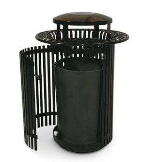 Breckenridge Series Ribbed Steel Waste Receptacle Belson