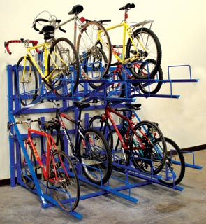 model bsh8fsp horizontal bicycle storage racks patriot blue - Indoor Bike Rack