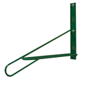 Model BSV-1-WM-P | Vertical Wall Mount | Bike Storage Rack (Forest Green)