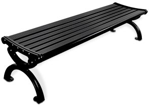 Model CBPB-6A1NB-BK | Aluminum Flat Bench
