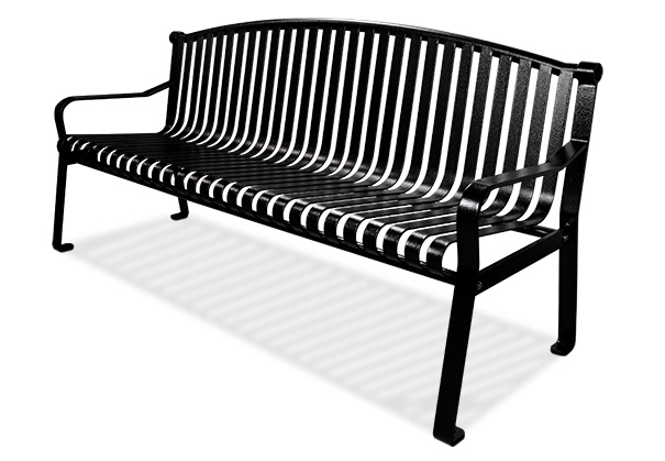 Commercial Park Bench With Curved Back Belson Outdoors